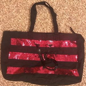 Black velvet Victoria Secret sequined bag